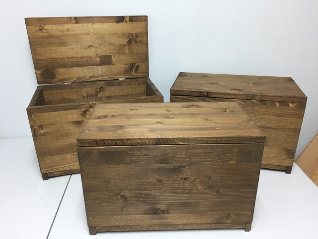 Special boxes for the boys.