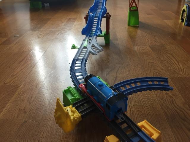 Isaiah's new train set.