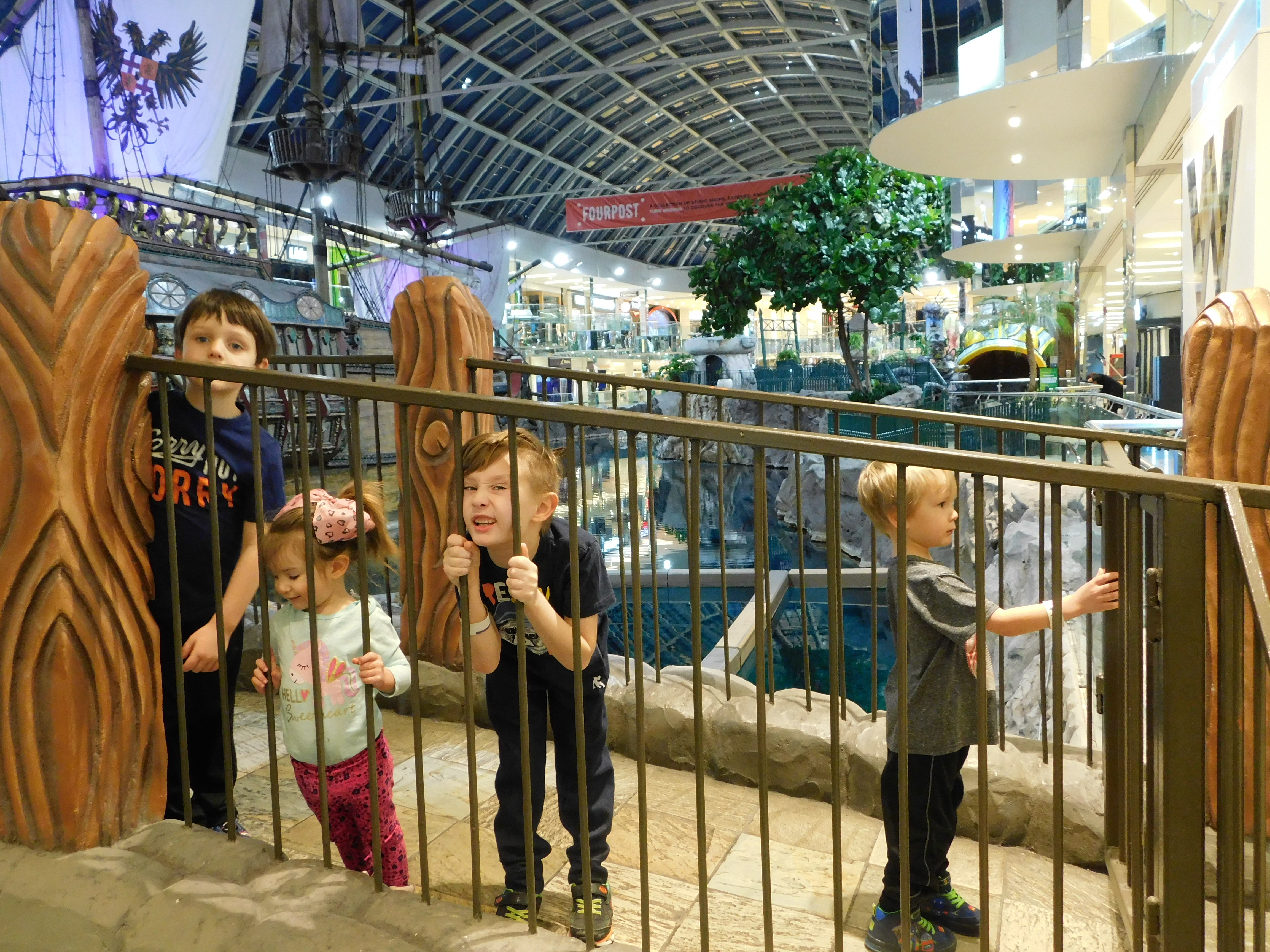 Dobbin kids at the West Edmonton Mall.